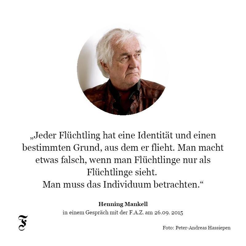 Henning Mankell, Flüchtlinge