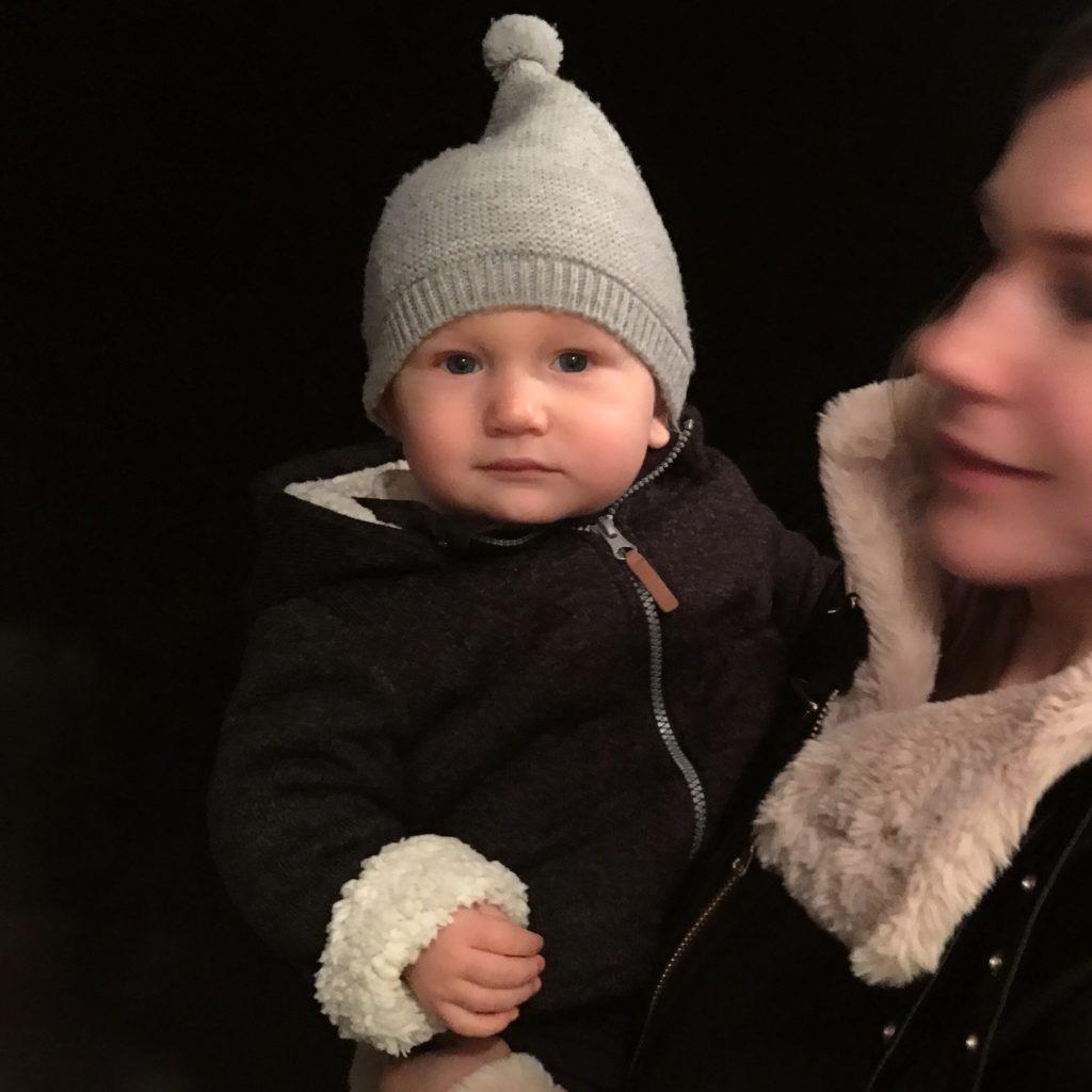 Natalie mit James, 31. Dezember 2017