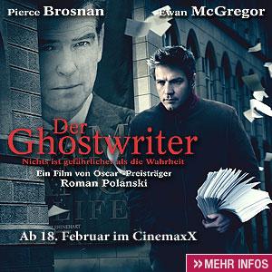"""Filmplakat """"Der Ghostwriter"""" von Roman Polanski"""