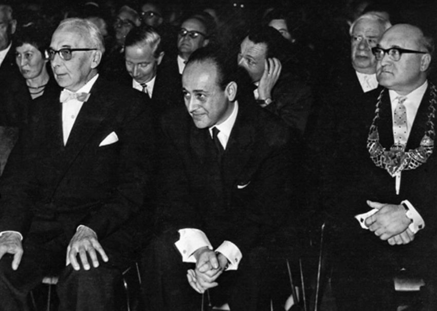 Paul Celan bei der Verleihung des Georg-Büchner-Preises in Darmstadt imOktober 1960©Deutsche Akademie (Pit Ludwig)